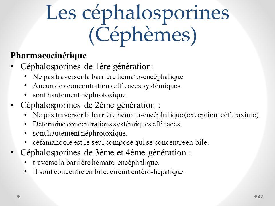 Les céphalosporines (Céphèmes)