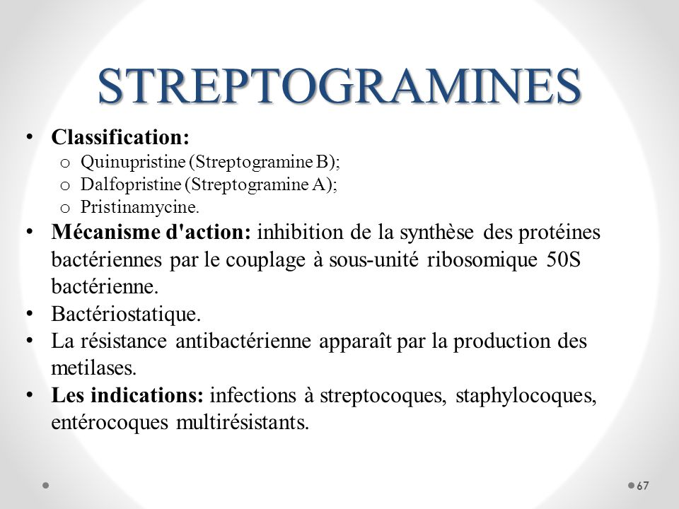STREPTOGRAMINES Classification: