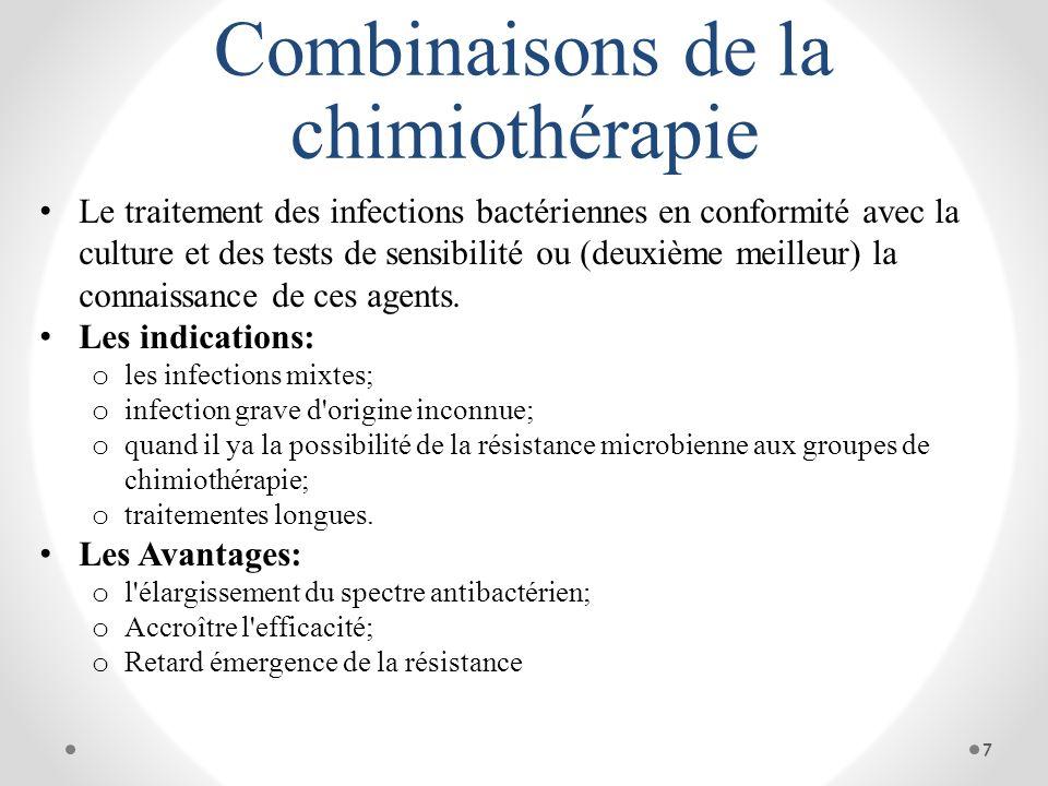 Combinaisons de la chimiothérapie