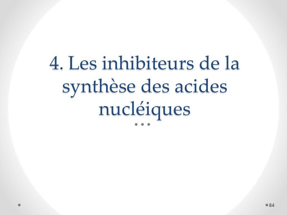 4. Les inhibiteurs de la synthèse des acides nucléiques