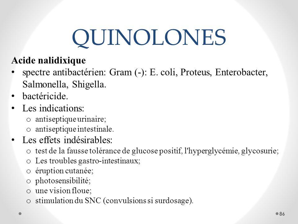 QUINOLONES Acide nalidixique