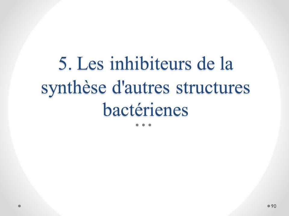 5. Les inhibiteurs de la synthèse d autres structures bactérienes