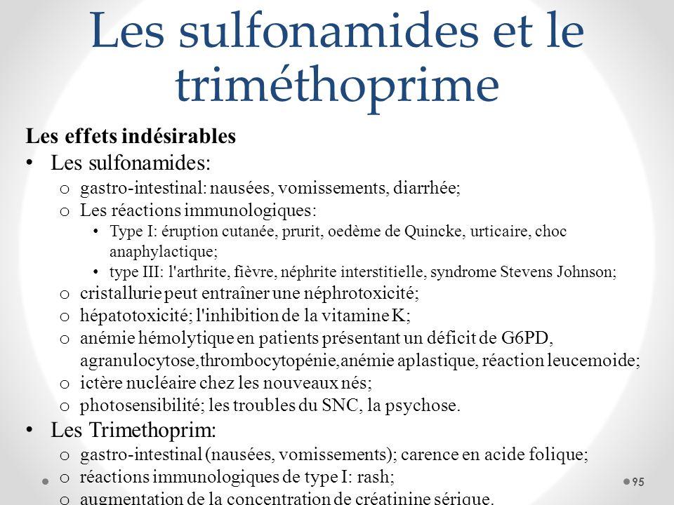 Les sulfonamides et le triméthoprime