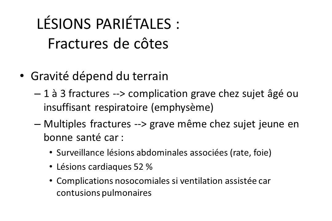 LÉSIONS PARIÉTALES : Fractures de côtes