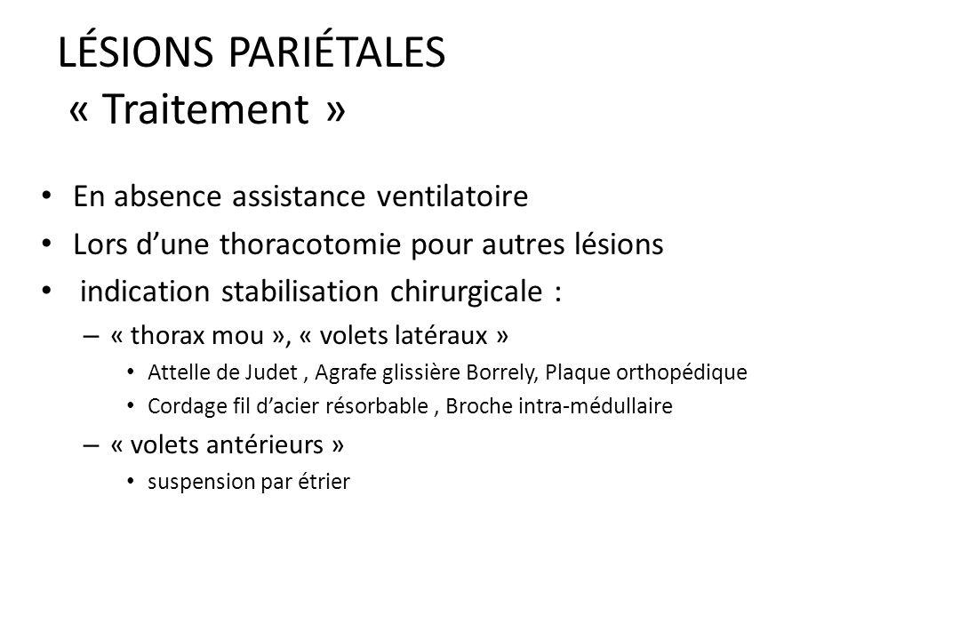 LÉSIONS PARIÉTALES « Traitement »