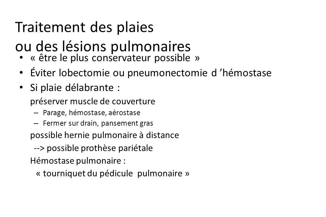 Traitement des plaies ou des lésions pulmonaires