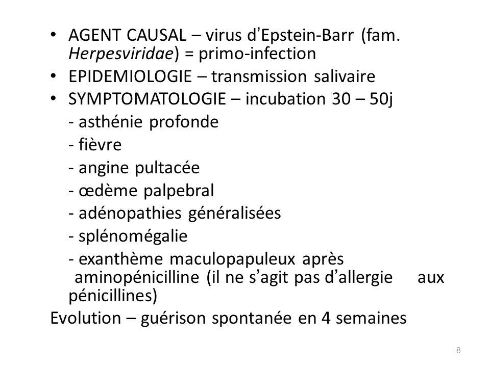 AGENT CAUSAL – virus d'Epstein-Barr (fam