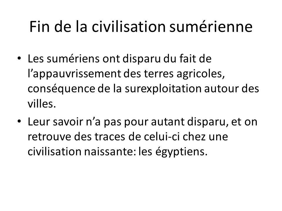Fin de la civilisation sumérienne