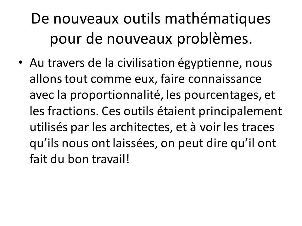 De nouveaux outils mathématiques pour de nouveaux problèmes.