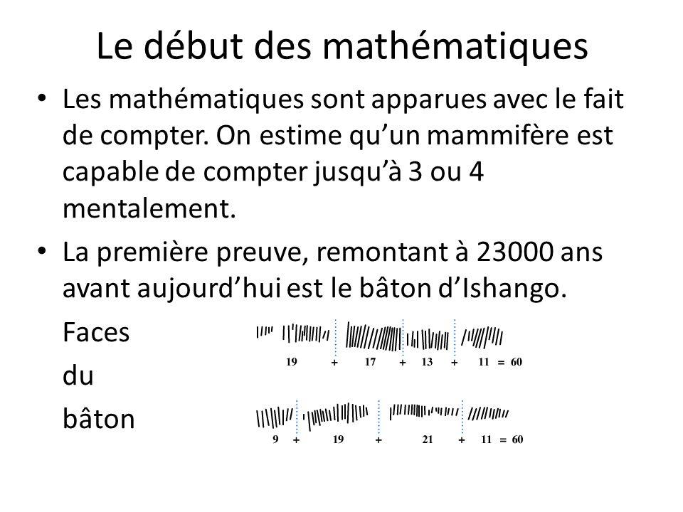 Le début des mathématiques