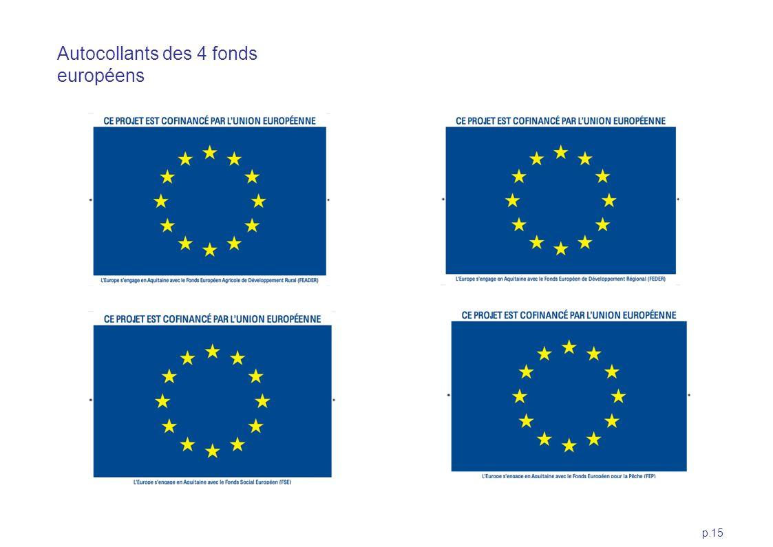 Autocollants des 4 fonds européens