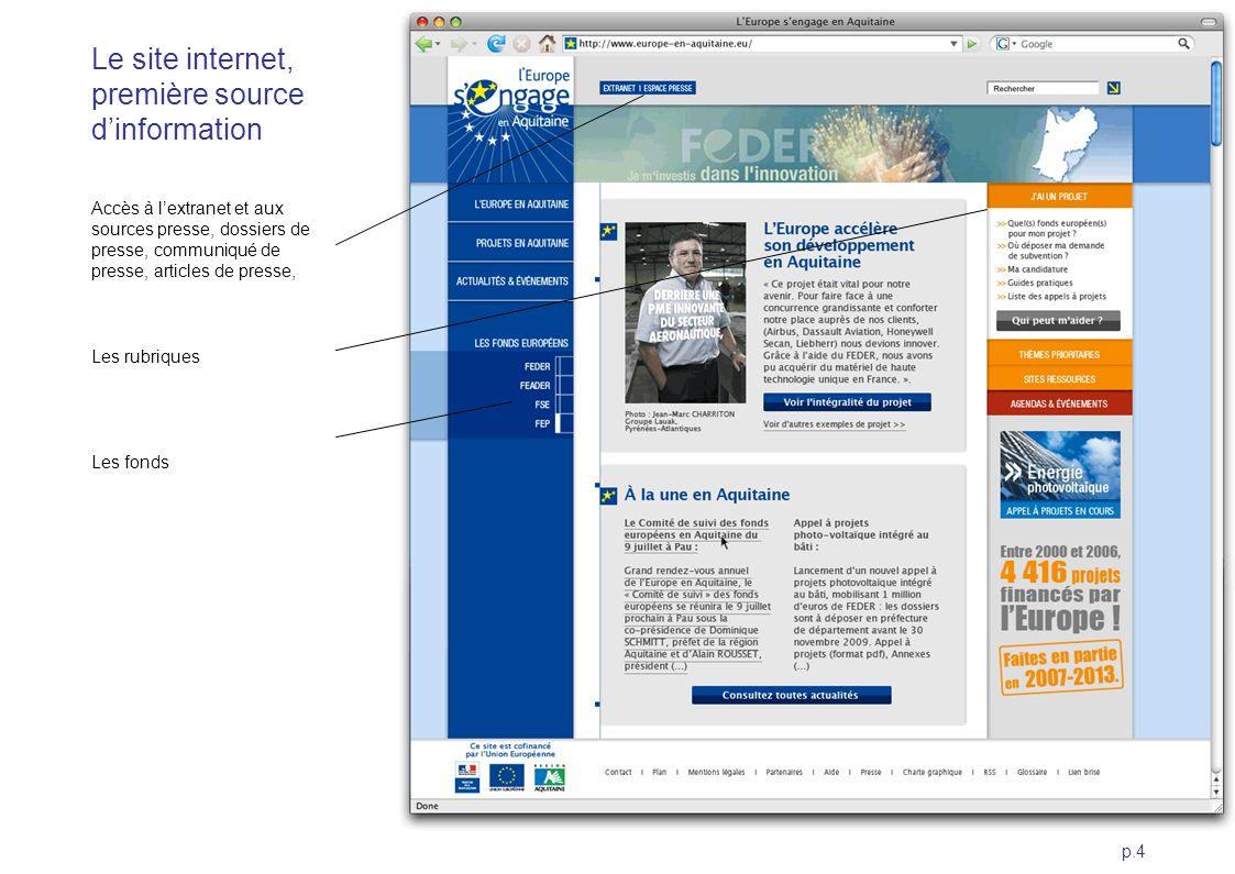 Le site internet, première source d'information