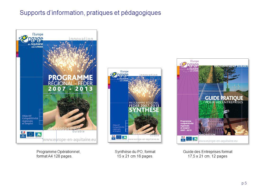 Supports d'information, pratiques et pédagogiques