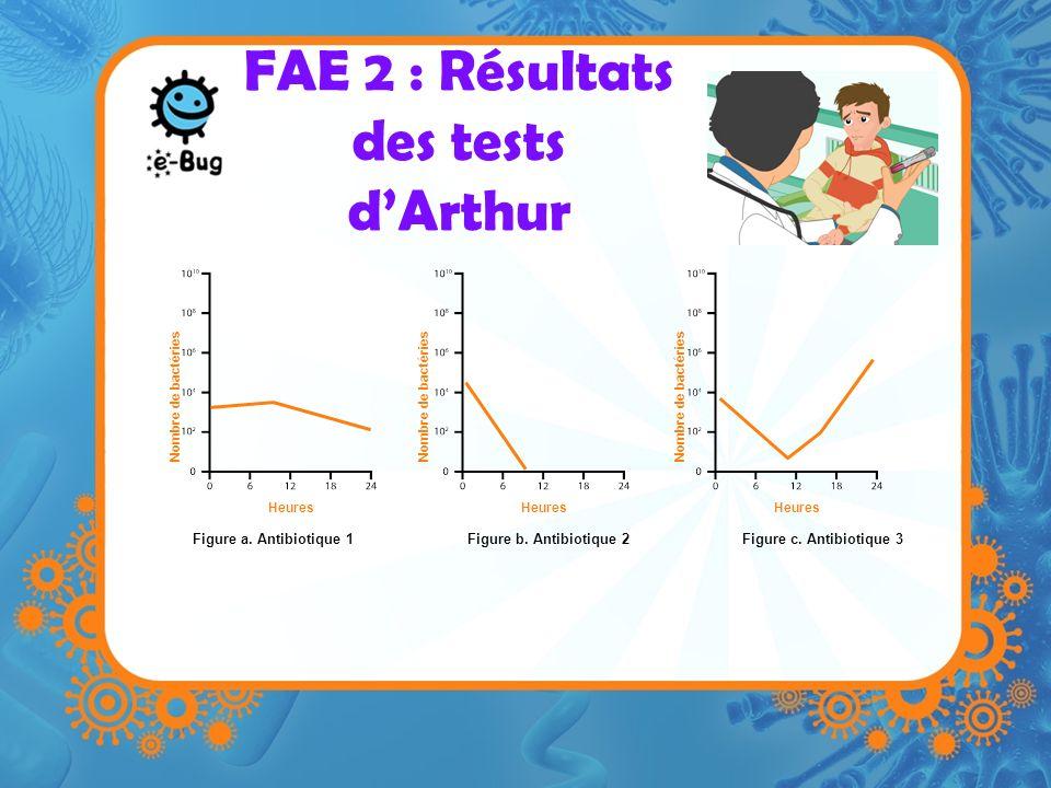 FAE 2 : Résultats des tests d'Arthur