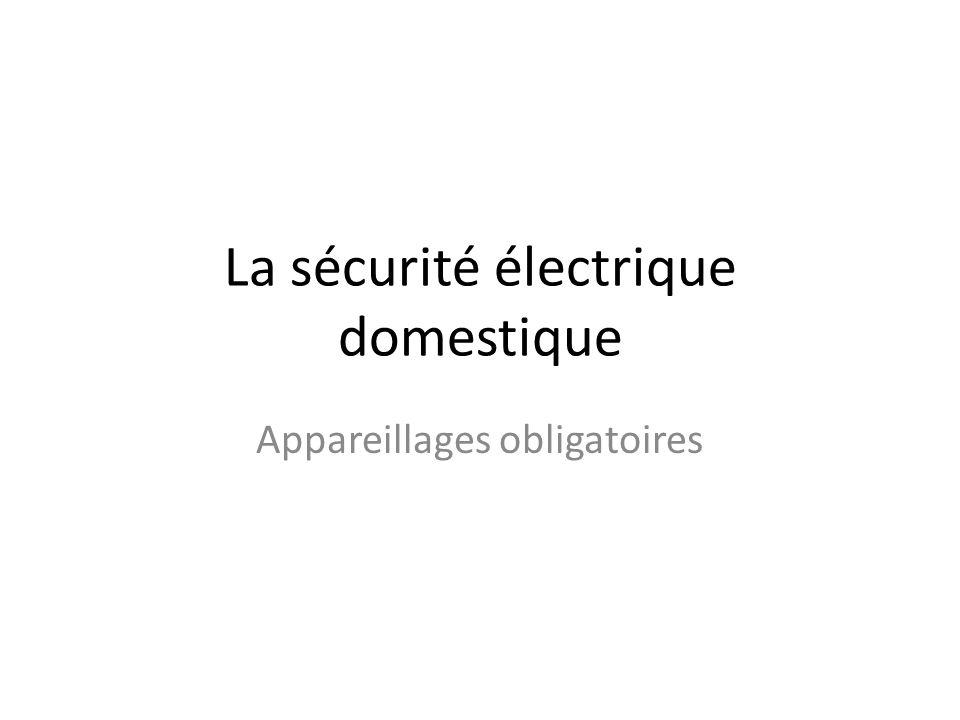 La sécurité électrique domestique