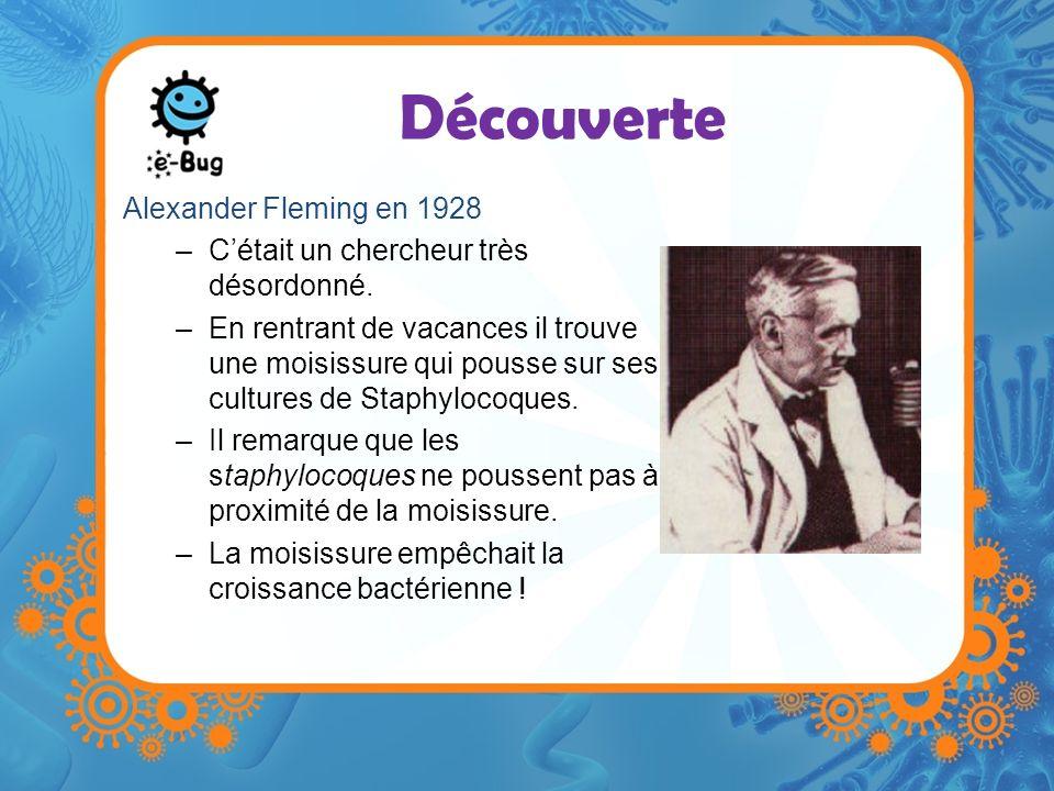 Découverte Alexander Fleming en 1928