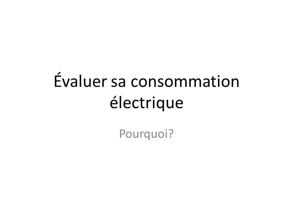 Évaluer sa consommation électrique