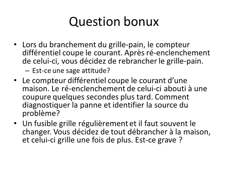 Question bonux