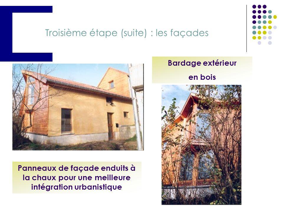 Troisième étape (suite) : les façades