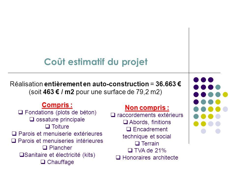 Projet int gr d auto construction d habitat en bois ppt for Cout du m2 construction neuve