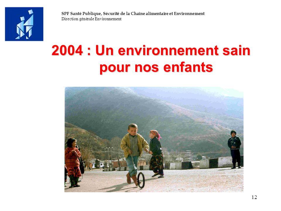 2004 : Un environnement sain pour nos enfants