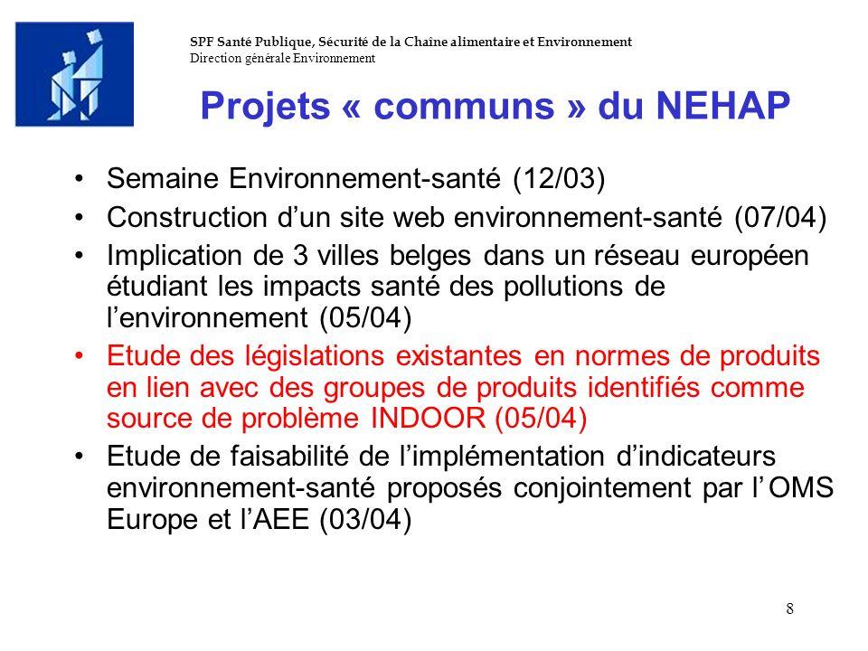 Projets « communs » du NEHAP