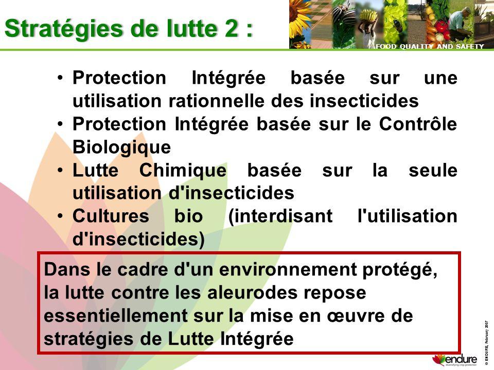 Stratégies de lutte 2 : Protection Intégrée basée sur une utilisation rationnelle des insecticides.