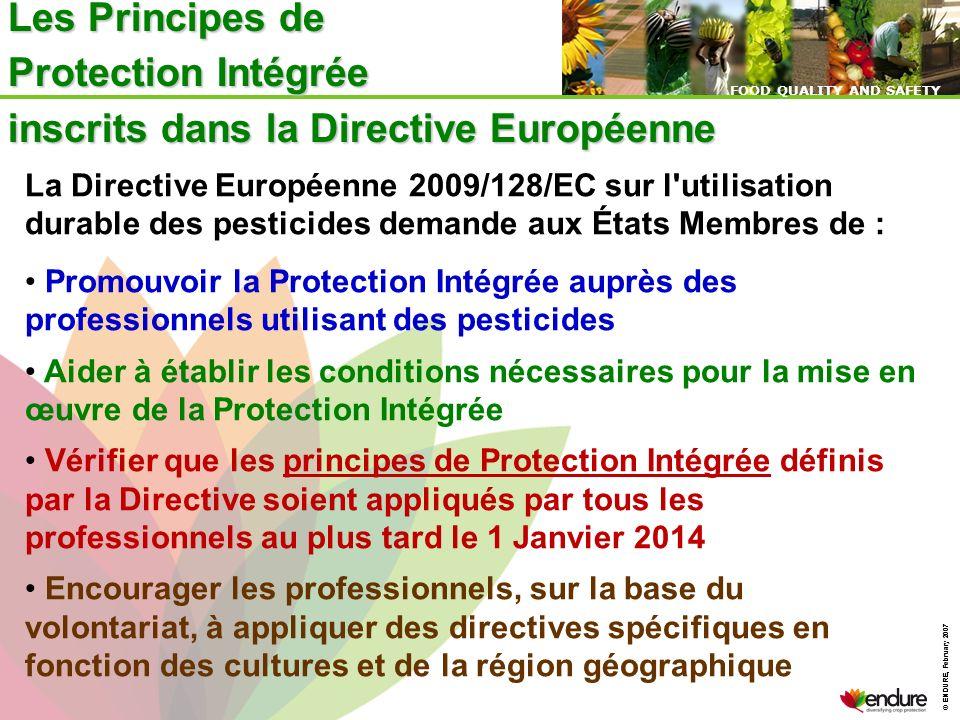 Les Principes de Protection Intégrée inscrits dans la Directive Européenne
