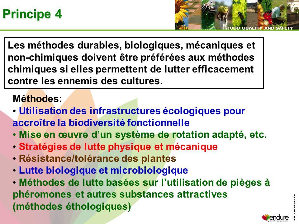 Principe 4 Les méthodes durables, biologiques, mécaniques et