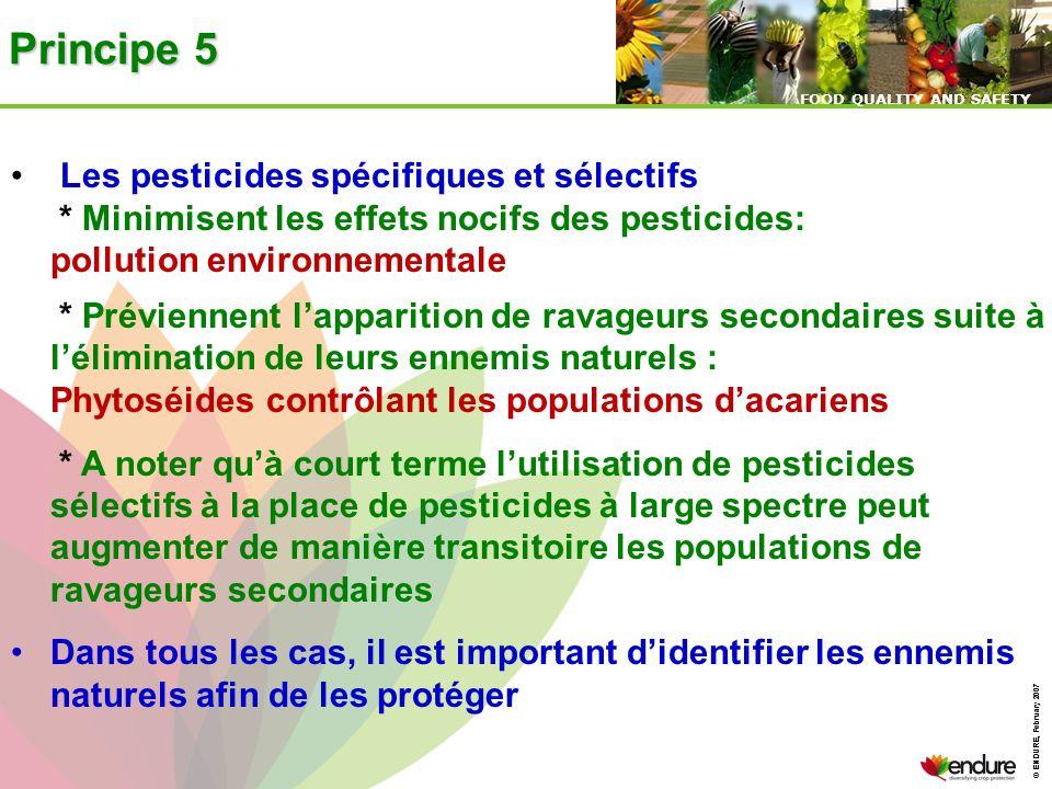 Principe 5 Les pesticides spécifiques et sélectifs