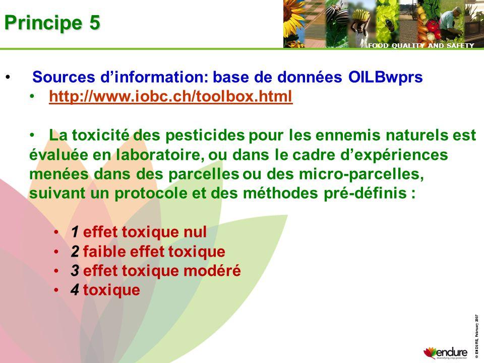 Principe 5 Sources d'information: base de données OILBwprs