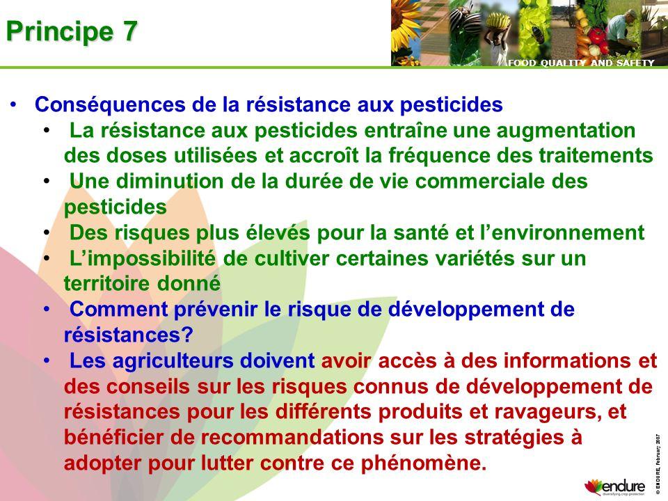 Principe 7 Conséquences de la résistance aux pesticides