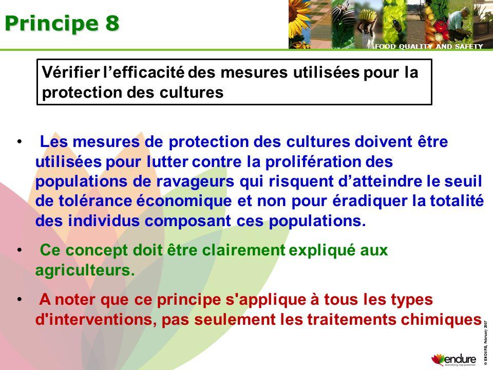 Principe 8 Vérifier l'efficacité des mesures utilisées pour la