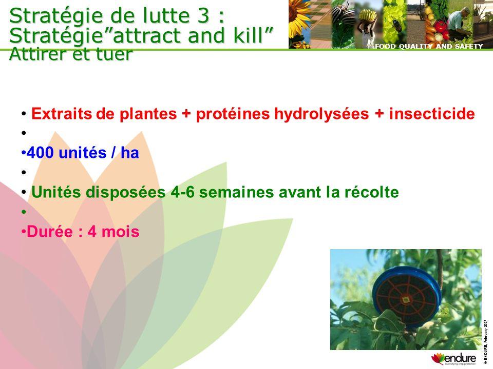 Stratégie de lutte 3 : Stratégie attract and kill