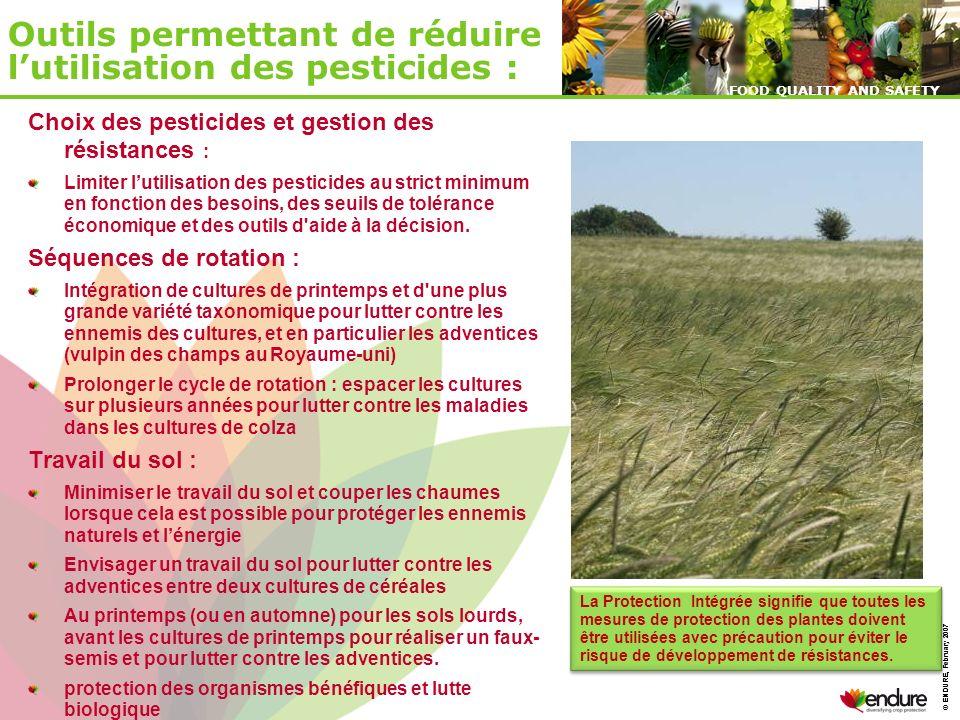 Outils permettant de réduire l'utilisation des pesticides :