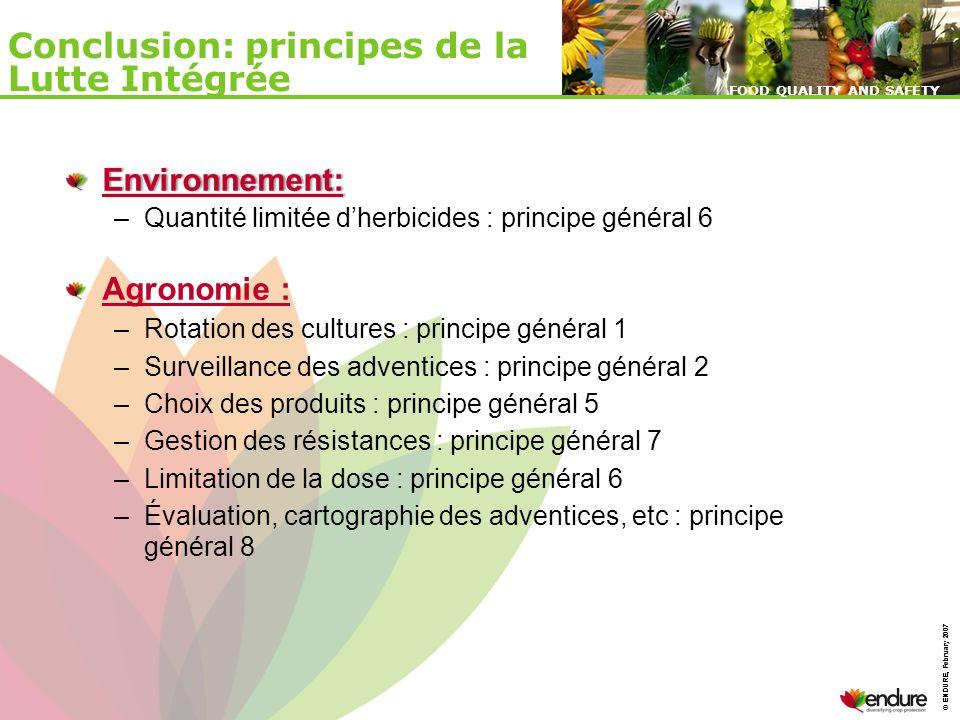 Conclusion: principes de la Lutte Intégrée