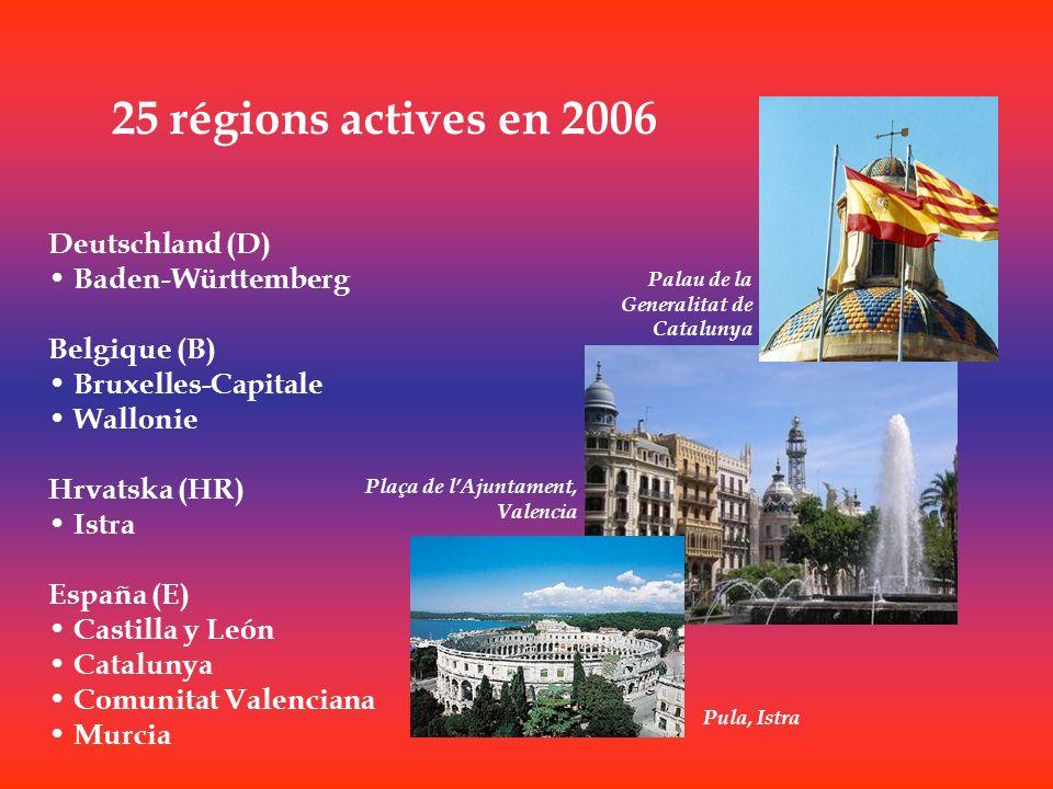 25 régions actives en 2006 Deutschland (D) Baden-Württemberg