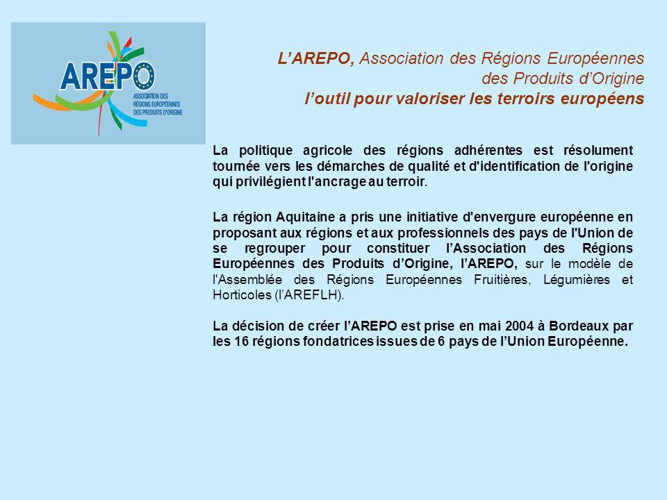 L'AREPO, Association des Régions Européennes des Produits d'Origine