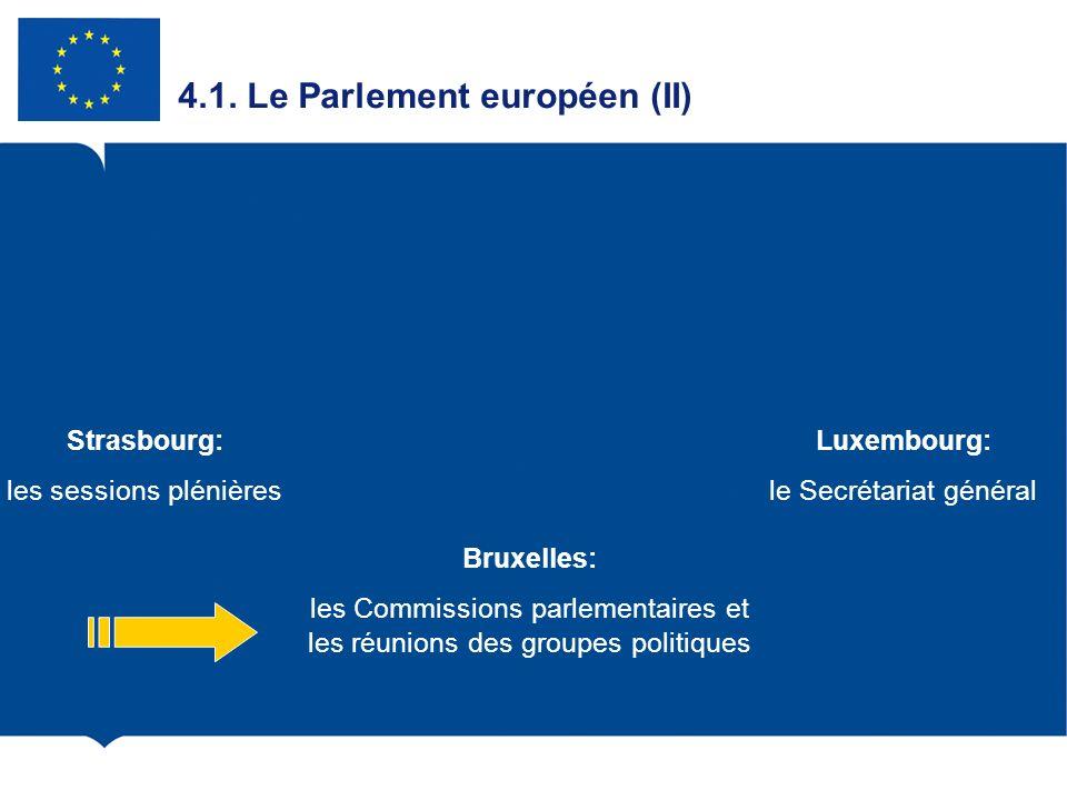 4.1. Le Parlement européen (II)