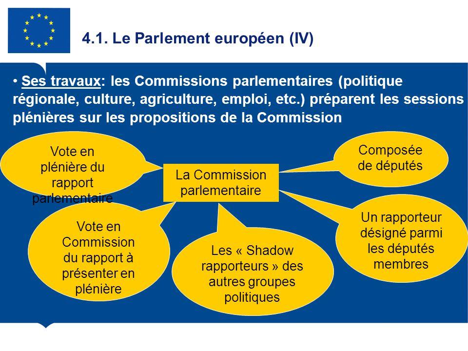 4.1. Le Parlement européen (IV)