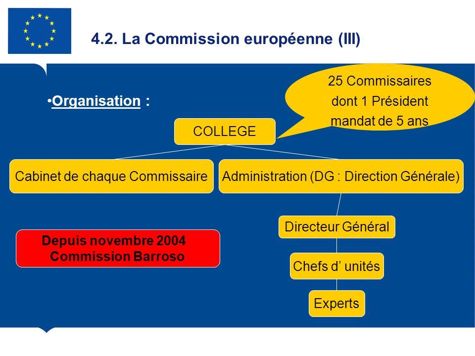 4.2. La Commission européenne (III)