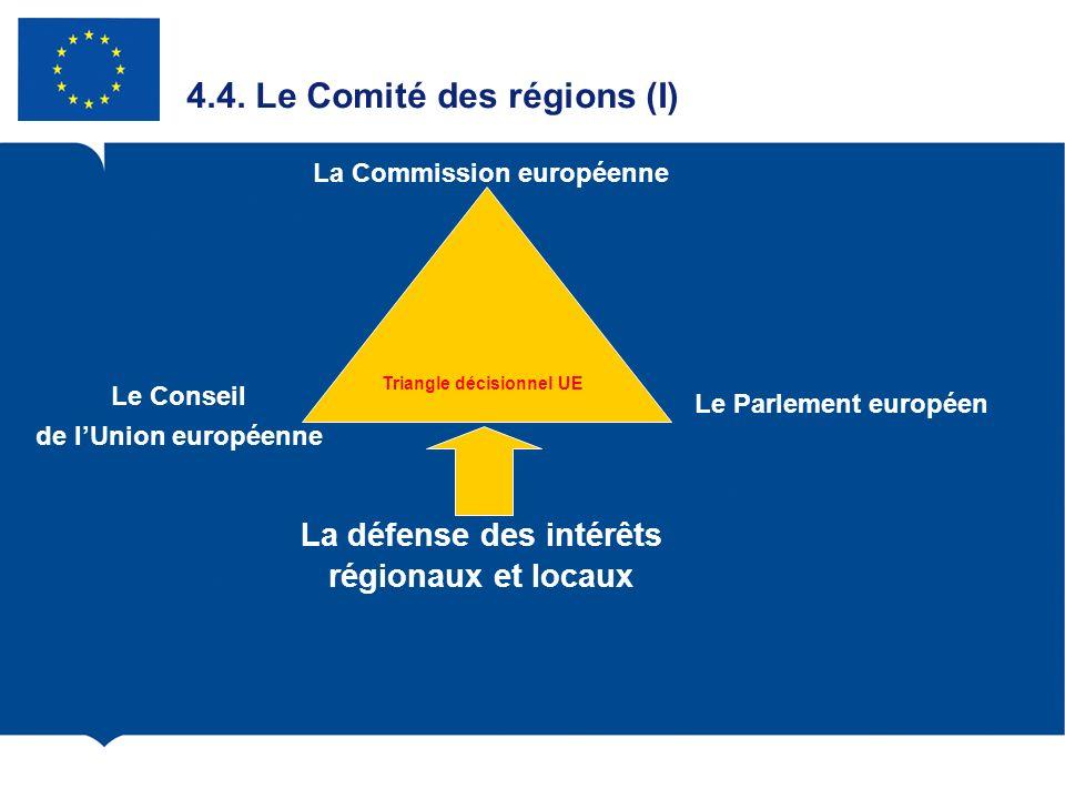4.4. Le Comité des régions (I)