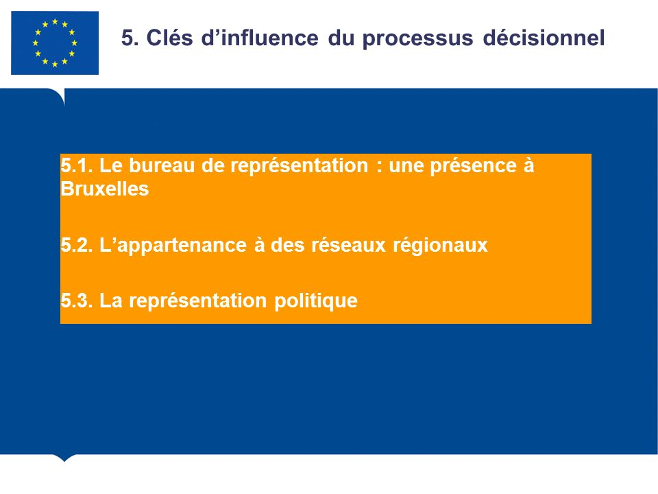 5. Clés d'influence du processus décisionnel