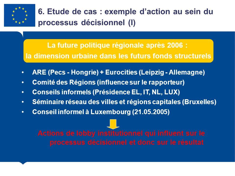 6. Etude de cas : exemple d'action au sein du processus décisionnel (I)