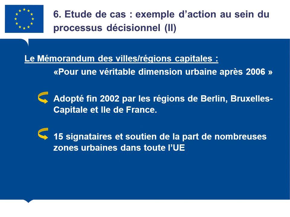 6. Etude de cas : exemple d'action au sein du processus décisionnel (II)