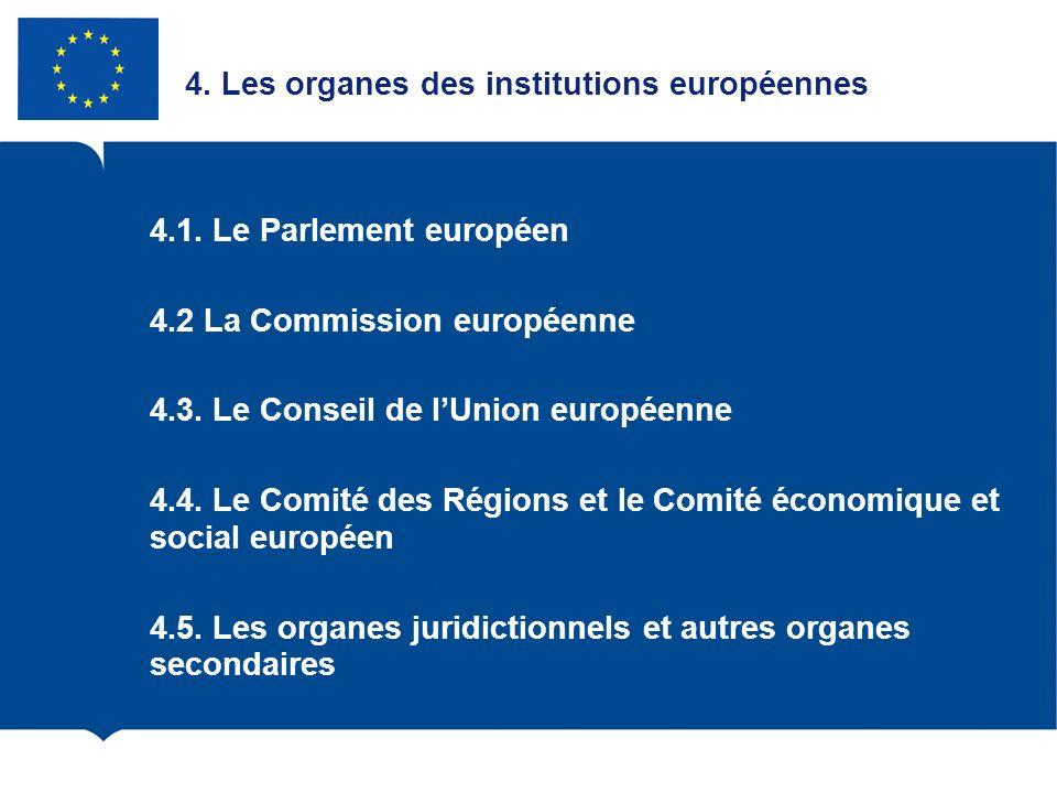 4. Les organes des institutions européennes