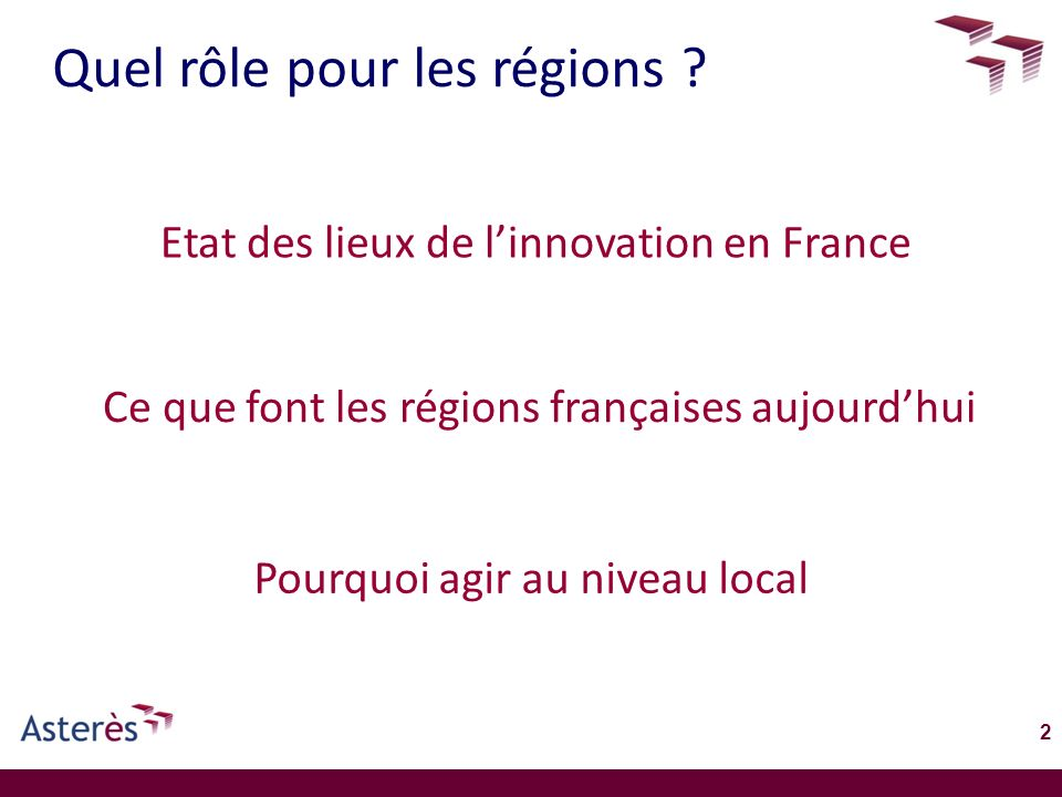 Quel rôle pour les régions