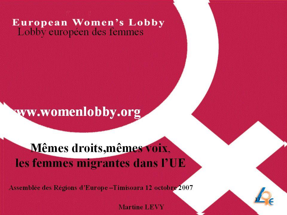 Un projet du Lobby Européen des Femmes