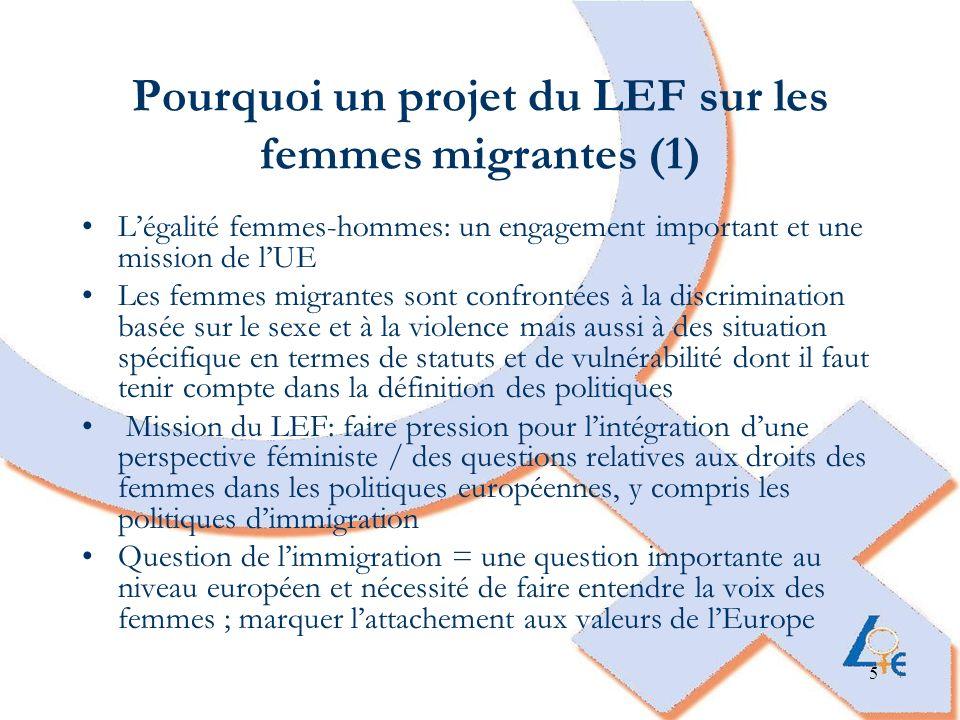 Pourquoi un projet du LEF sur les femmes migrantes (1)