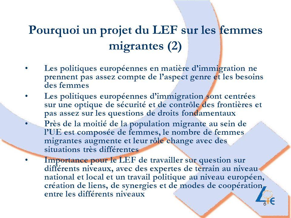 Pourquoi un projet du LEF sur les femmes migrantes (2)